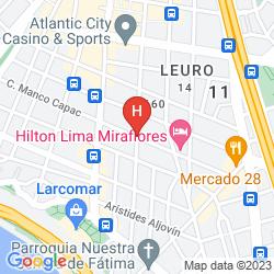 Mapa TUNDERBIRD HOTELS FIESTA HOTEL & CASINO'