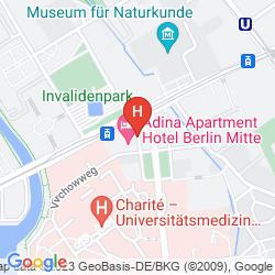 Mapa ADINA APARTMENT HOTEL BERLIN MITTE