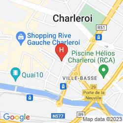 Mapa LEONARDO HOTEL CHARLEROI CITY CENTER