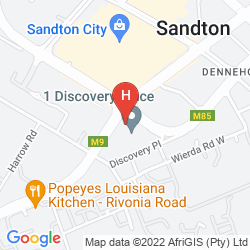 Mapa GARDEN COURT SANDTON