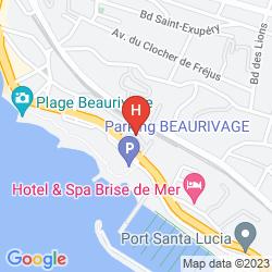 Mapa RESIDENCE MAEVA PROMENADES DES BAINS