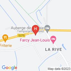 Mapa AUBERGE DE LA BAIE