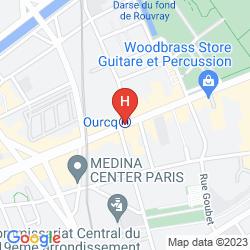 Mapa APPART CITY PARIS