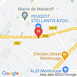 Mapa SEJOURS & AFFAIRES PARIS MALAKOFF