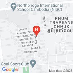 Mapa THE GREAT DUKE PHNOM PENH