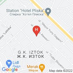 Mapa APARTMENT HOUSE IZTOK