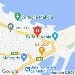 Mapa EL MOURADI CAP MAHDIA