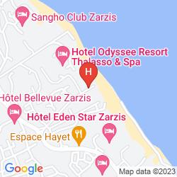 Mapa ODYSSEE RESORT ZARZIS
