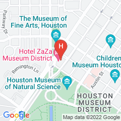 Mapa ZAZA HOUSTON MUSEUM DISTRICT