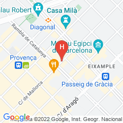 Mapa ALEXANDRA BARCELONA HOTEL, CURIO COLLECTION BY HILTON