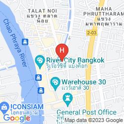 Mapa CHATRIUM HOTEL RIVERSIDE BANGKOK