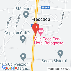 Mapa VILLA PACE PARK HOTEL BOLOGNESE
