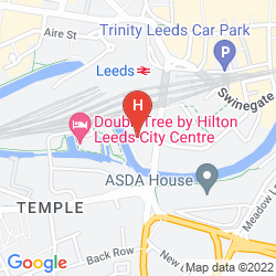 Mapa DOUBLETREE BY HILTON LEEDS CITY CENTRE
