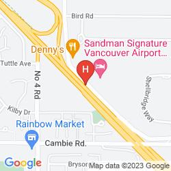 Mapa SANDMAN SIGNATURE HOTEL & RESORT VANCOUVER AIRPORT