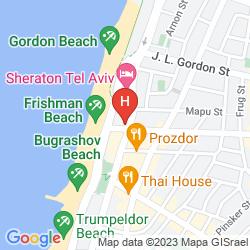 Mapa PRIMA TEL AVIV