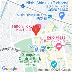 Mapa HYATT REGENCY TOKYO