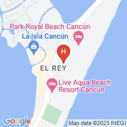 Mapa THE WESTIN LAGUNAMAR OCEAN RESORT VILLAS & SPA CANCUN