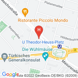 Mapa ASTER HOTEL AN DER MESSE