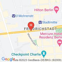 Mapa KUBRAT BERLIN MITTE