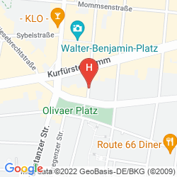 Mapa HOTEL-PENSION MODENA