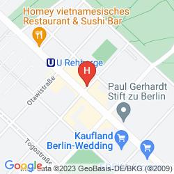 Mapa REHBERGE PENSION HOTEL