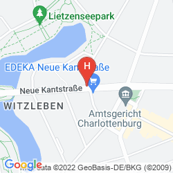 Mapa HOTEL PENSION MESSE