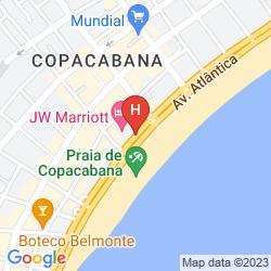 Mapa MERCURE RIO DE JANEIRO COPACABANA