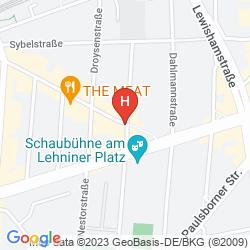 Mapa HOTEL-PENSION AM LEHNINER PLATZ