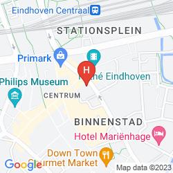 Mapa CROWN HOTEL EINDHOVEN