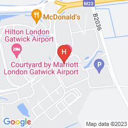 Mapa COURTYARD LONDON GATWICK AIRPORT