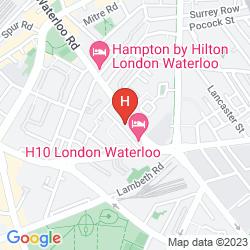 Mapa H10 LONDON WATERLOO