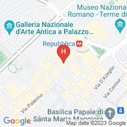 Mapa LA GRIFFE ROMA - MGALLERY BY SOFITEL