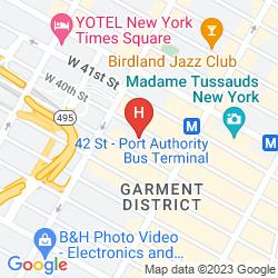 Mapa FAIRFIELD INN & SUITES BY MARRIOTT NEW YORK MANHATTAN/TIMES SQUARE