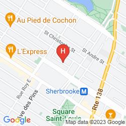 Mapa DU MANOIR ST-DENIS