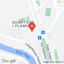 Mapa HOTEL VILLA GLORI