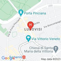 Mapa WESTIN EXCELSIOR ROME