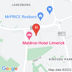 Mapa MALDRON HOTEL LIMERICK