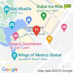 Mapa THE ADDRESS DUBAI MALL