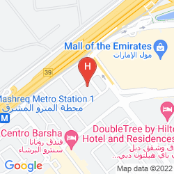 Mapa NOVOTEL SUITES DUBAI MALL OF THE EMIRATES