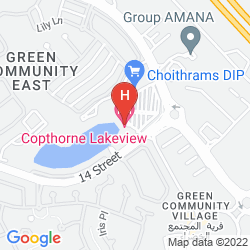 Mapa COURTYARD DUBAI, GREEN COMMUNITY