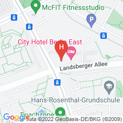 Mapa HOLIDAY INN BERLIN CITY EAST