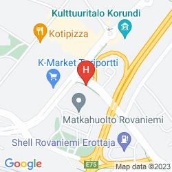 Mapa CUMULUS RESORT POHJANHOVI