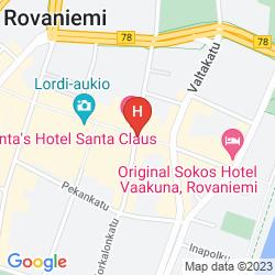 Mapa SANTA'S HOTEL SANTA CLAUS