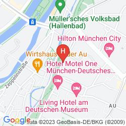 Mapa NOVOTEL MUNCHEN CITY