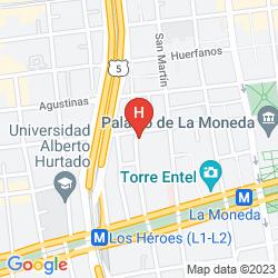Mapa SHERATON SANTIAGO HOTEL & CONVENTION CENTER