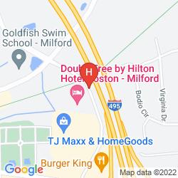 Mapa DOUBLETREE HOTEL BOSTON MILFORD