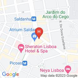 Mapa MY RAINBOW ROOMS GAY BED & BREAKFAST