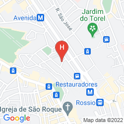 Mapa PENSAO RESIDENCIAL ROMA
