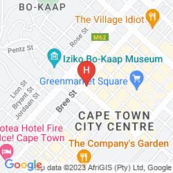 Mapa TAJ CAPE TOWN