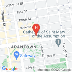 Mapa KABUKI - A JOIE DE VIVRE HOTEL